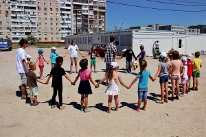 BRINGING THE LIGHT OF THE GOSPEL TO THE REFUGEE CAMP IN EASTERN UKRAINE