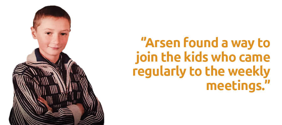 Arsen found a way to join the kids